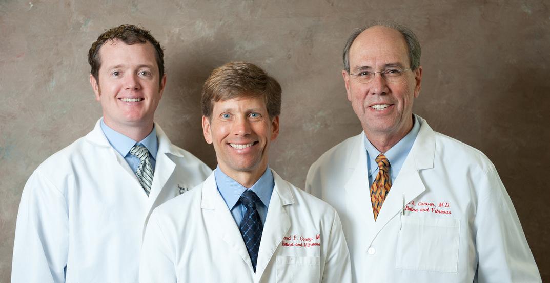 Three doctors white coats - Retina and Vitreous Surgeons of Utah
